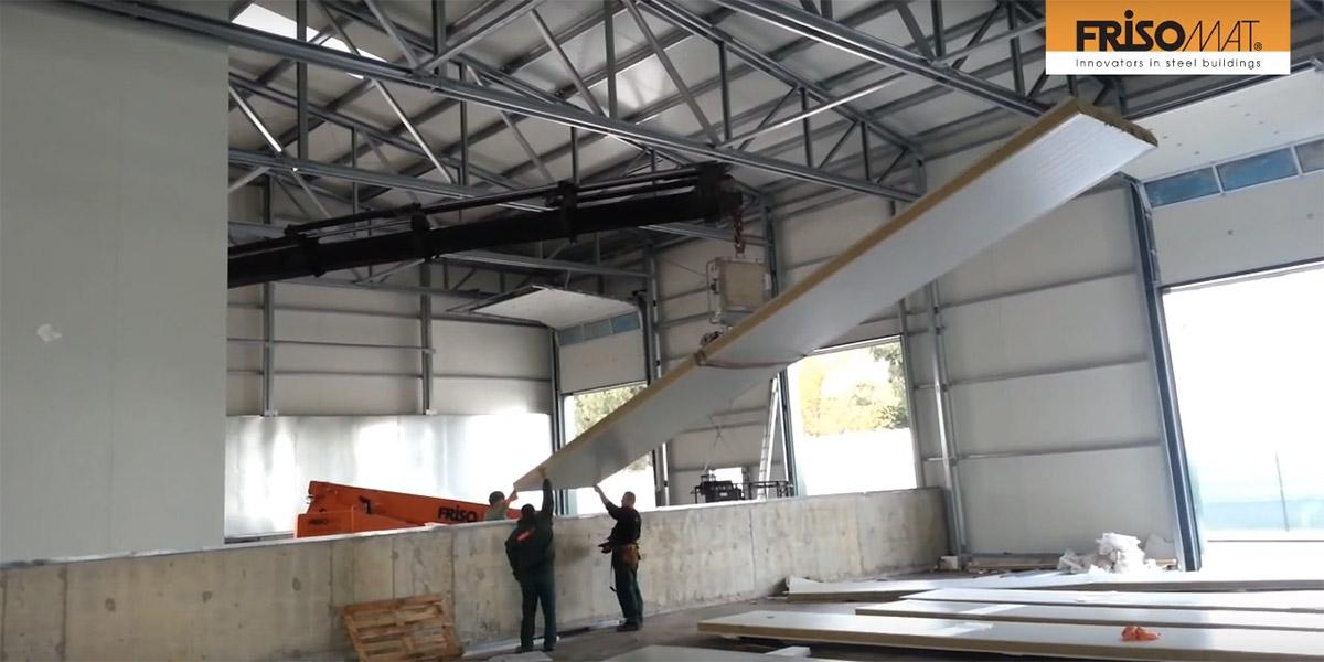 Нов огромен цех с противопожарна стена – вижте част от монтажа